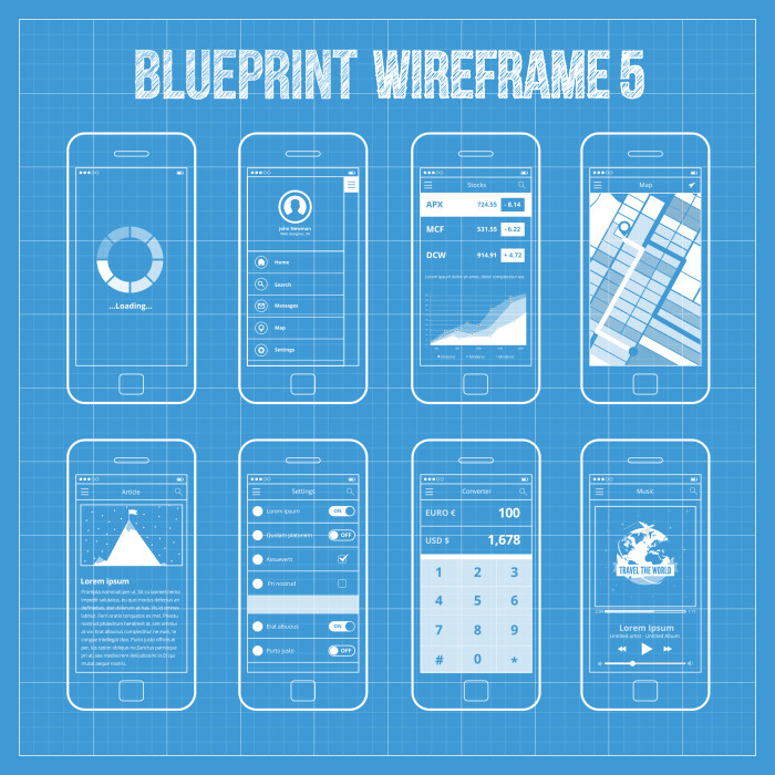Good app for blueprints 10 affordably developed mobile app good app for blueprints 10 affordably developed mobile app development wireframes as blueprints malvernweather Image collections