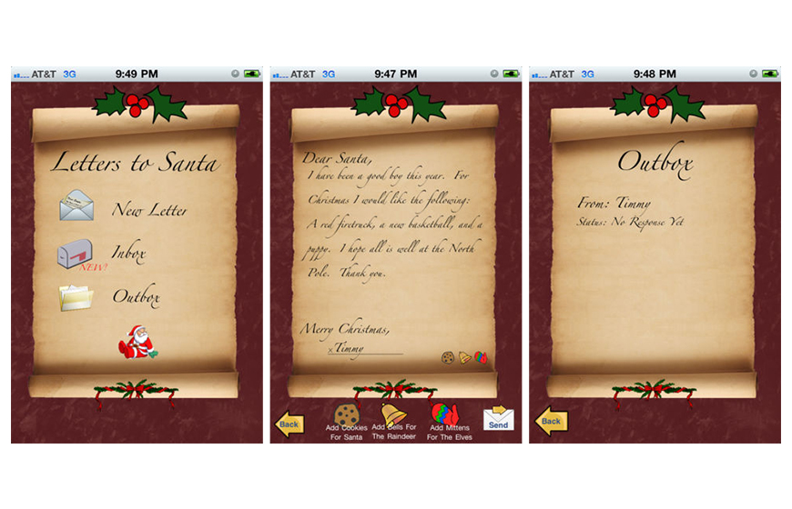 Mobile app daily the app meant to serve especially to the children and let them write as many letters as they want to santa spiritdancerdesigns Gallery