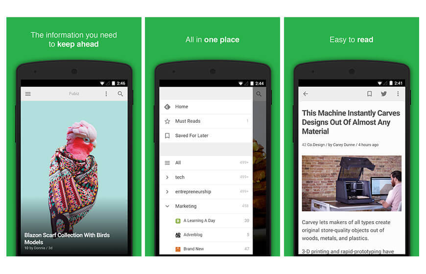 Feedly News mobile application