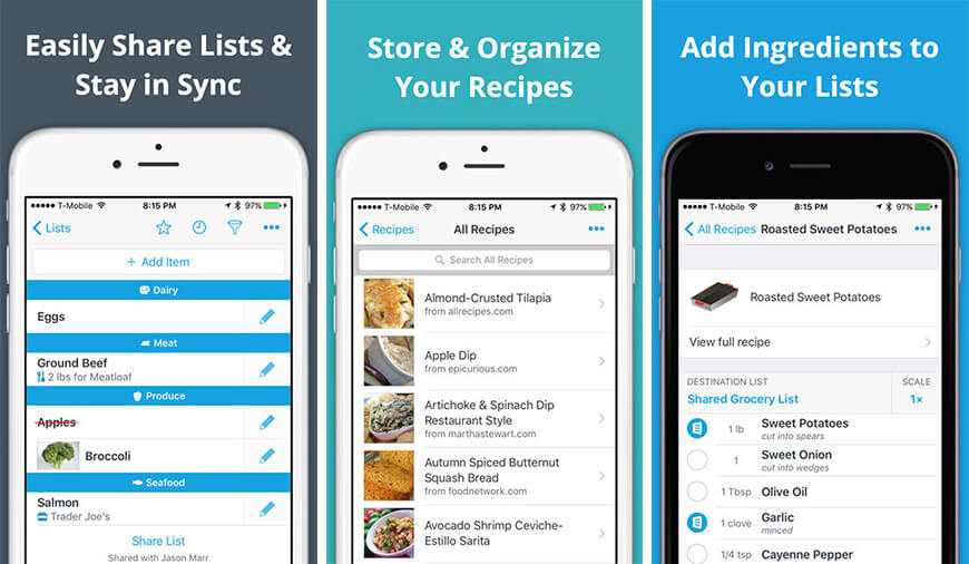 anylist is one of the most impressive grocery shopping apps for iphone it is impressive because of the features it has for a normal shopper