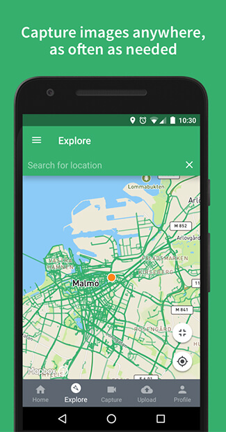 Mapillary had around 6 million photos uploaded mapping 200,000 square kilometers on earth