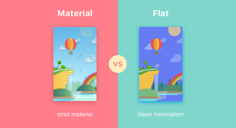 Material Design Over Flat Design - Mobiwoz