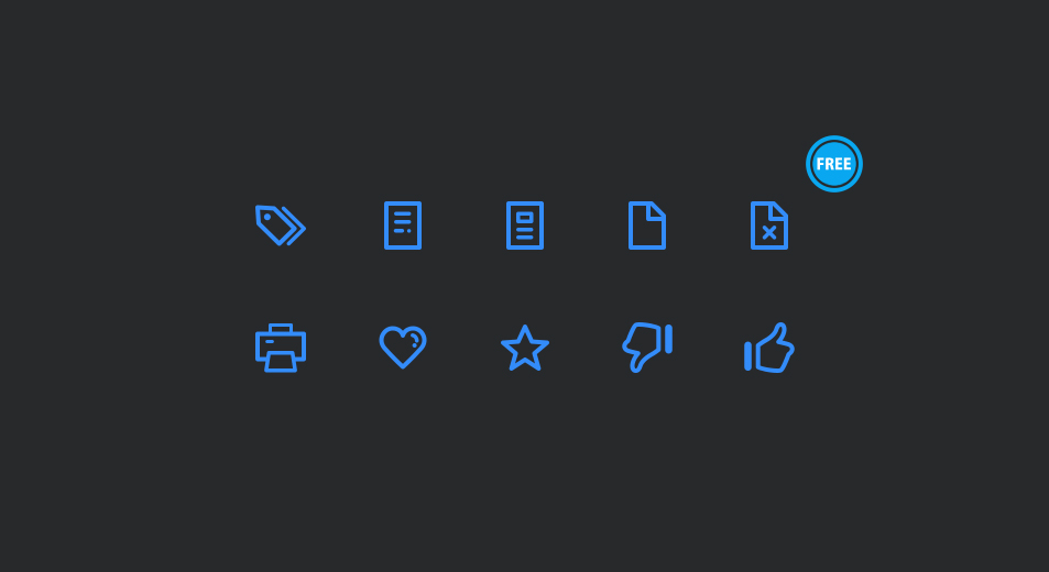 Icons With Minimum Outline