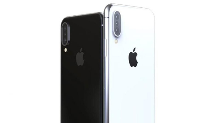 iPhone X with triple lens camera