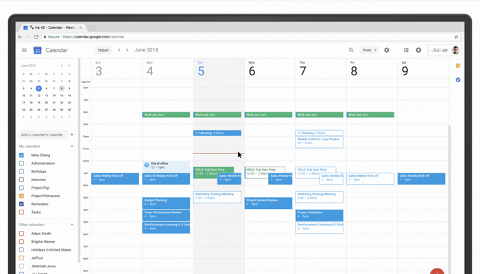 Option in scheduling