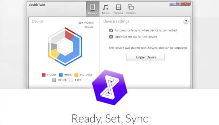 Ready Set Sync the music files