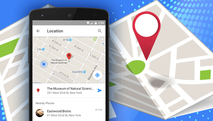 location feature in application