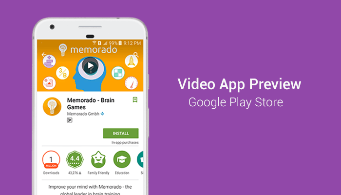 Google Play Store App Preview Video