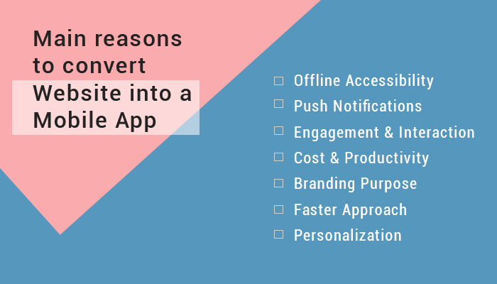 Reasons to convert Website into a Mobile App