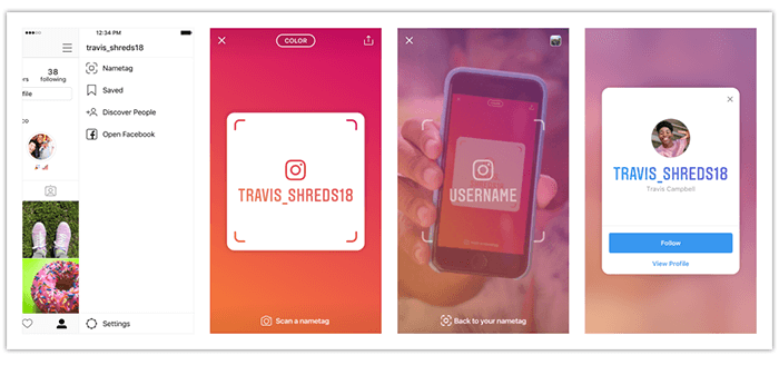 Instagram Nametag Feature