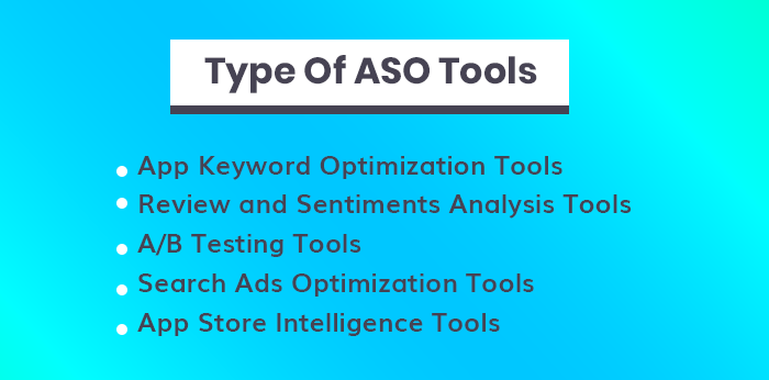 Type Of ASO Tools