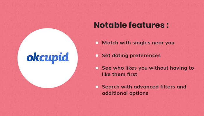 Notable features of OkCupid