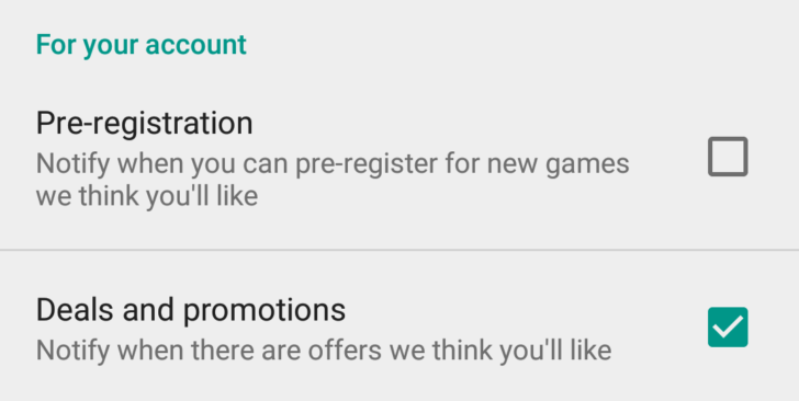 pre-registrations and promotions