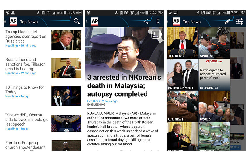 Ap mobile news application