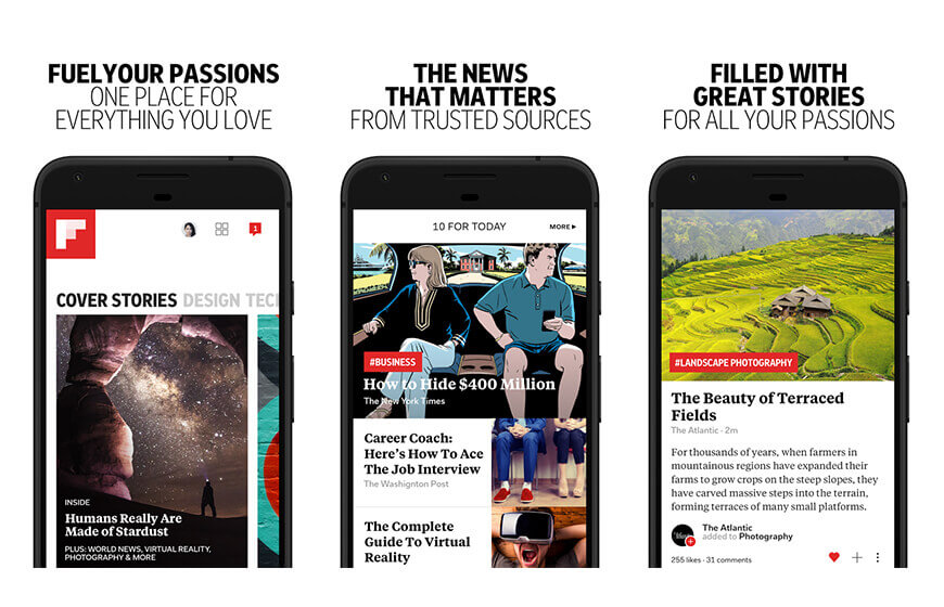 flipboard news mobile application