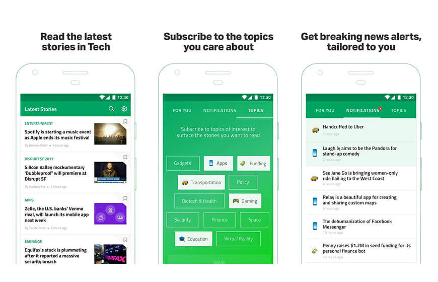 Techcrunch News Mobile Application