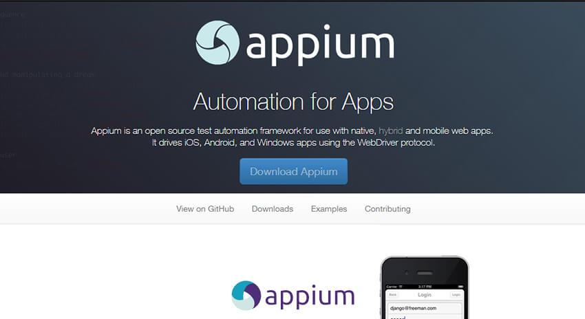 Appium - Mobile App Testing Tools