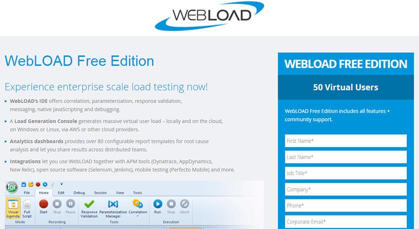WebLoad - Mobile App Testing Tools