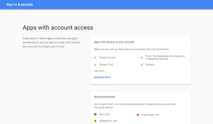 apps with account access