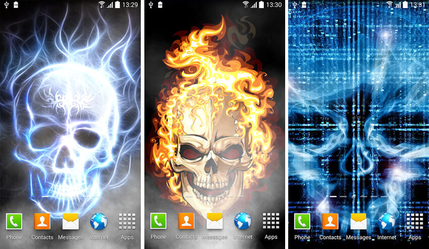 From the of choices, users can have wallpapers with smoke effect, burning skull, and live water effect to add a touch of personalization to their ...