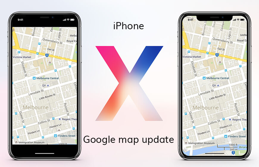 Google maps for iPhone X