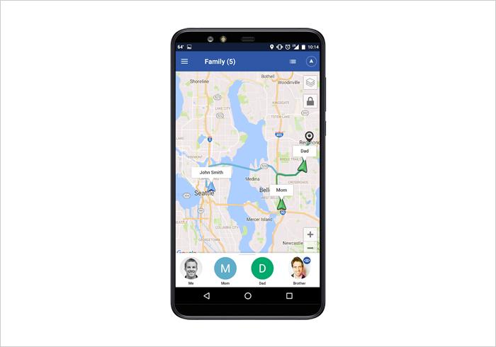 Glympse GPS tracking app