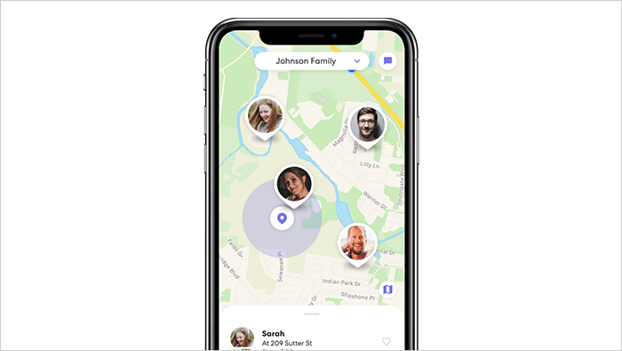 Find circle members and get real-time directions