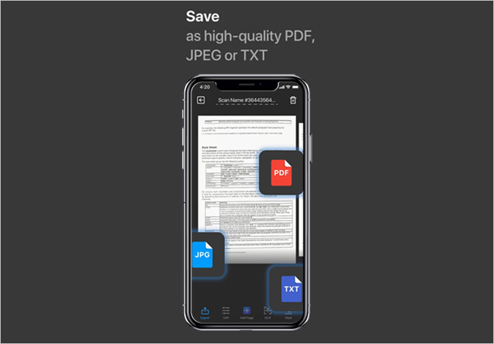 Convert document in PDF and JPEG