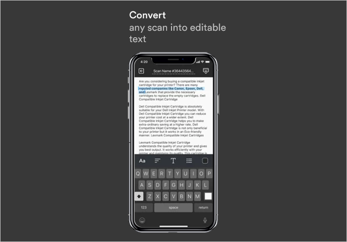 OCR technology converts scanned pdf to word