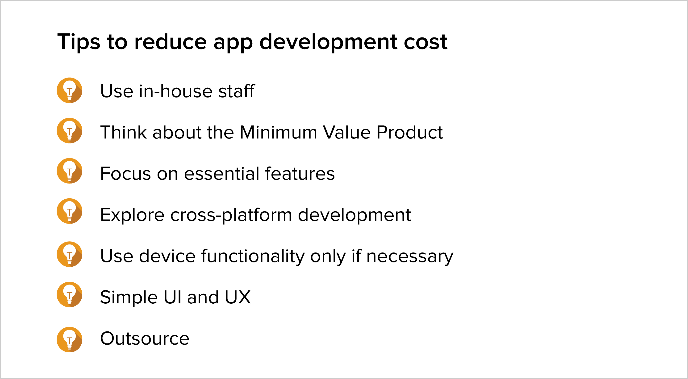 Tips to reduce app development cost