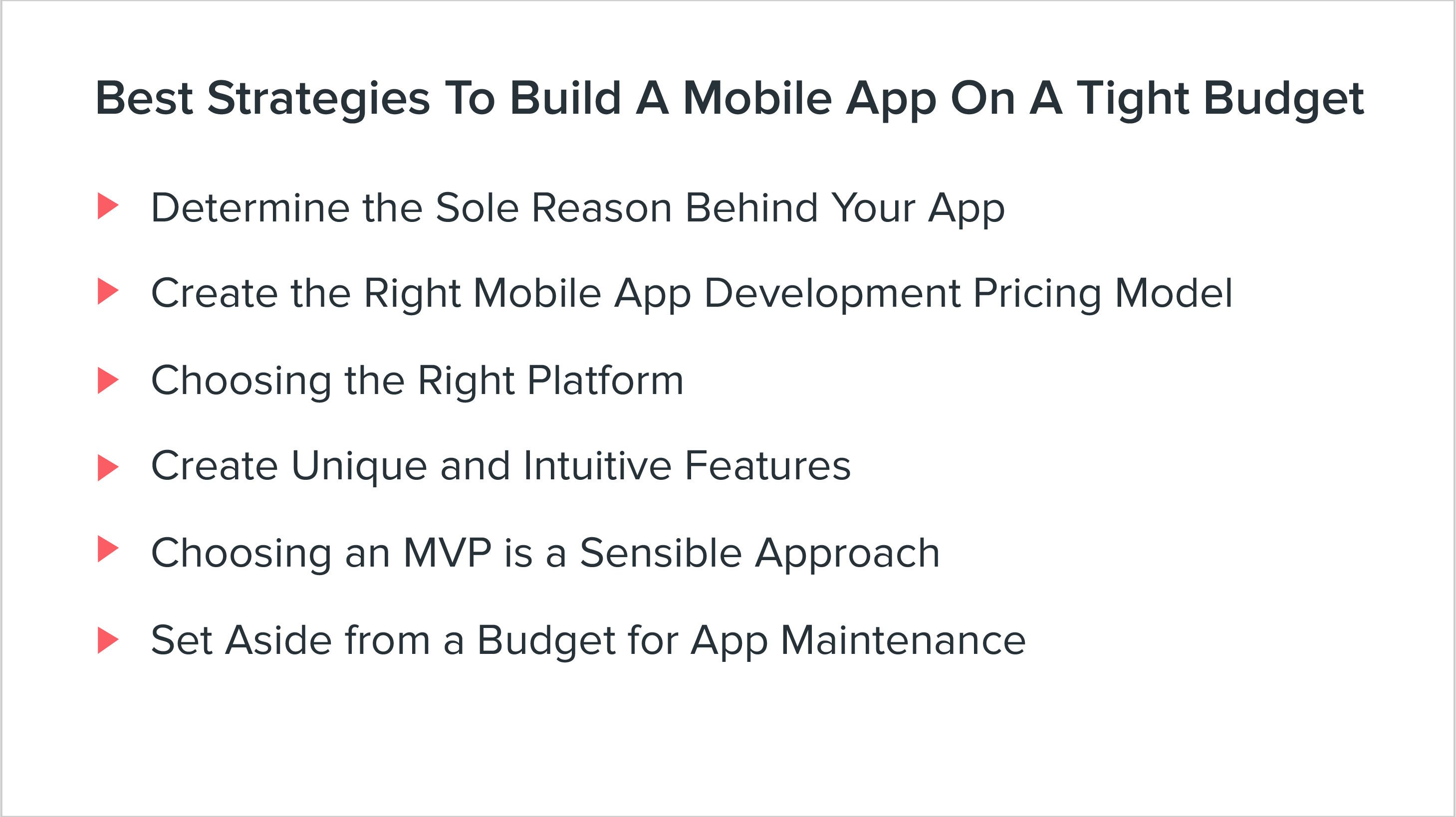 Best Strategies to Built a mobile app on a tight budget