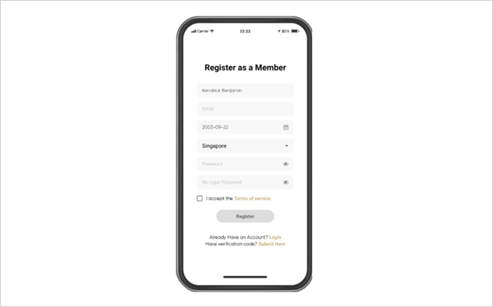 Step 2: Register as member