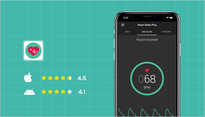 Heart Rate Plus - Best Heart Rate Monitor Apps