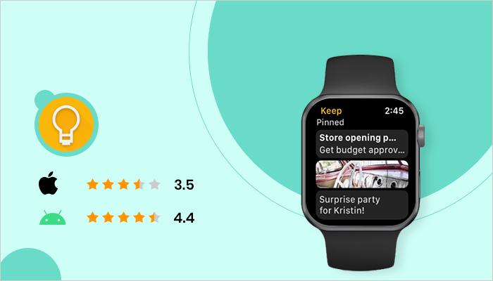 Google Keep - Best App For Smartwatch