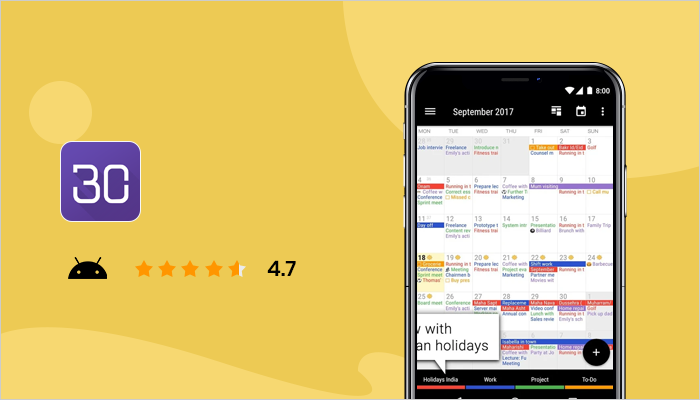 Business Calendar 2 - Best Calendar App