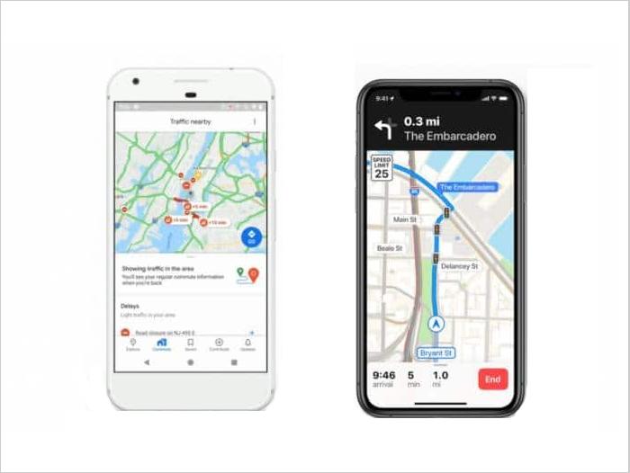 Apple Maps vs Google Maps