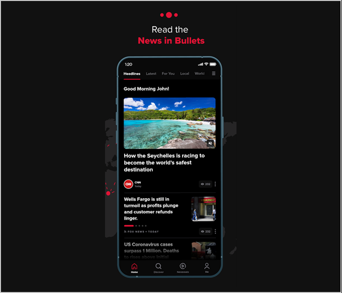 bullet point news app