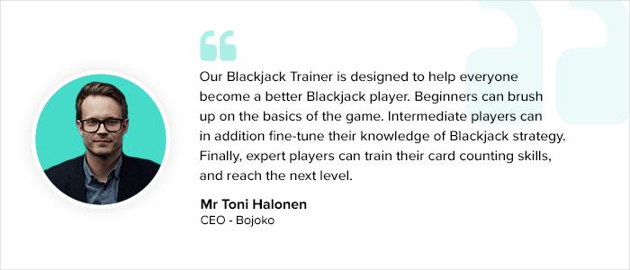 Blackjack Trainer app