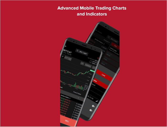 Advanced mobile trading chart