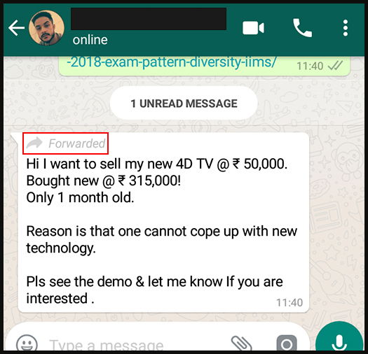 Whatsapp spam messages