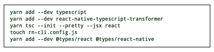 adding typescript