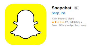 Launch the snapchat