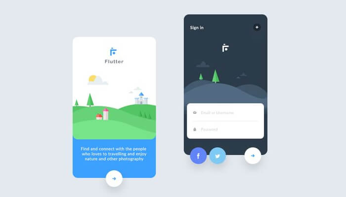 User Interface in Flutter development