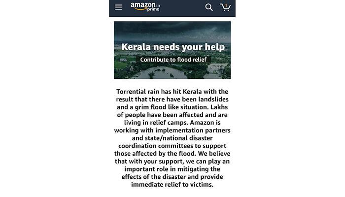Donate via Amazon India