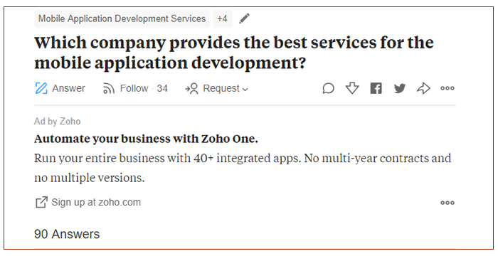 company profile on quora