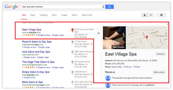 verify business on Google map