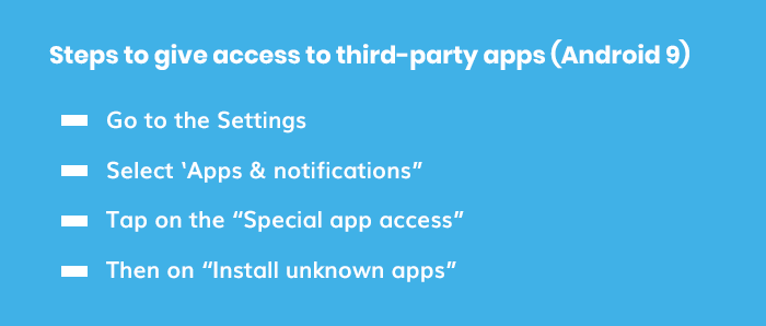 Following are the steps that you need to follow to give access to third-party apps