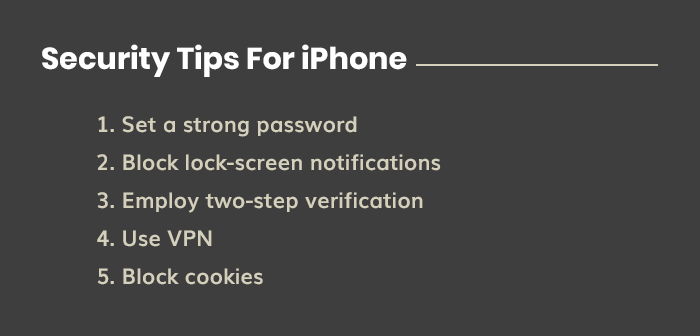 Security Tips For iPhone