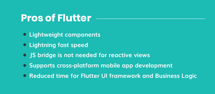 Pros of Flutter