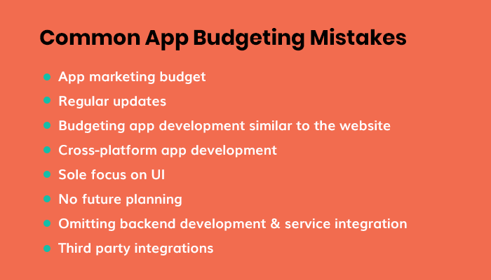 Major App Budgeting Mistakes